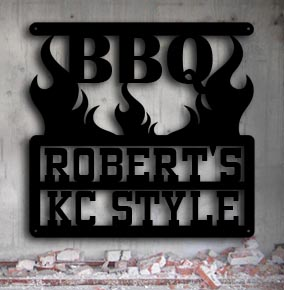 personalized metal bbq up north sign