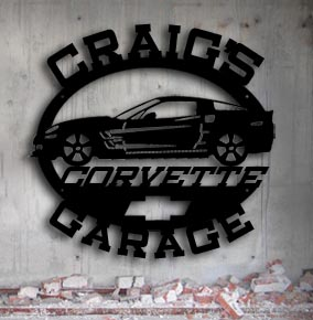 custom metal sign personalized corvette garage metal up north sign