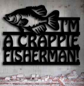 crappie fish metal wall art up north sign