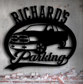 dodge truck parking personalized metal up north sign