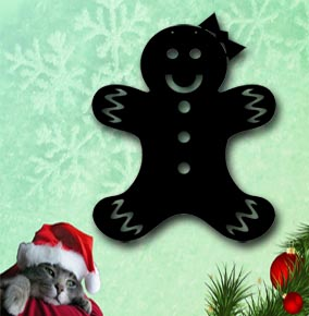 gingerbread girl boy metal christmas decoration up north sigh