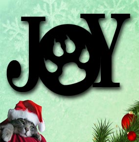 joy paw print metal christmas decoration up north sign