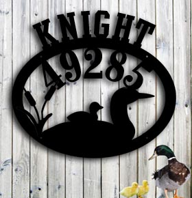 custom metal sign loons on the lake metal personalized address art up north sign