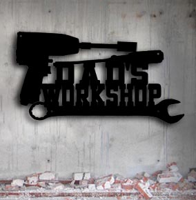personalized metal workshop mechanic tools up north metal sign