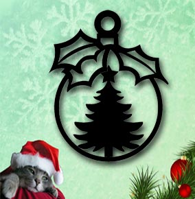 christmas tree metal ornament up north sign