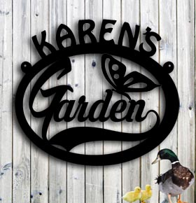 custom metal sign personalized metal garden sign up north signs