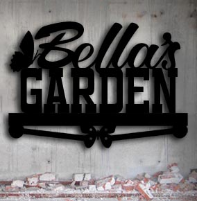personalized metal garden sign up north signs