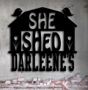 she shed personalized metal up north sign