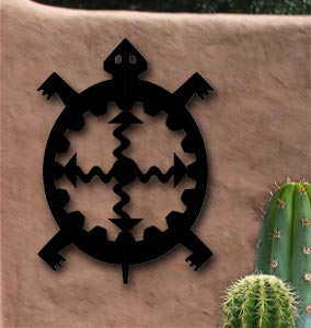 southwest native american turtle outdoor metal art